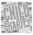 Child Sponsorship Do or Dont text background vector image