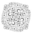 circle floral ornament adult coloring book page vector image
