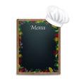 Black Board With Vegetables Border vector image vector image