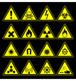 hazard symbols and signs collection vector image