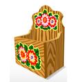 wooden casket vector image vector image