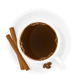 cup of coffee 09 vector image vector image