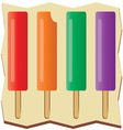 Flavored Popsicles vector image