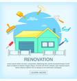 building process concept repair cartoon style vector image