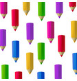 colour pencils isolated on white background vector image