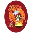 cook - skull vector image