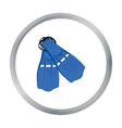 Flippers icon cartoon Single sport icon from the vector image