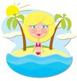 Girl at Sea vector image