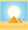 giza pyramid square poster vector image
