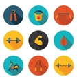 gym flat icons vector image