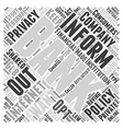 Internet Banking and Privacy Policies Word Cloud vector image
