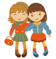 Little friends vector image