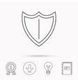 Shield icon Protection sign vector image