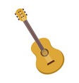 simple acoustic guitar graphic vector image