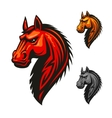 Horse stallion head and mane icon vector image