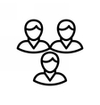 Teamwork Outline Icon vector image