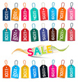 Sale Tags - Colorful Labels Set Isolated on White vector image vector image