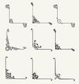 Set of decorative corners classic design vector image vector image