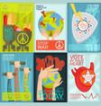 propaganda posters set vector image