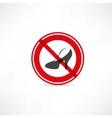 forbidden for women icon vector image vector image