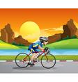 A boy biking vector image vector image