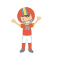American Football player character vector image vector image