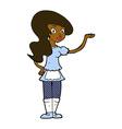 comic cartoon waitress vector image