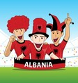 Group of Albania Sport Fan vector image