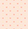 Seamless pattern with hearts and circles vector image