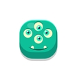 Satisfied Monster Square Icon vector image