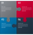 four parts of puzzle vector image