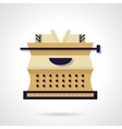 Typewriting tool flat color design icon vector image