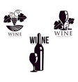 winery silhouette conceptual icon set isolated vector image