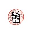 zentangle icon gift box vector image