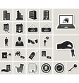 Houses and real estate stickers icons set vector image