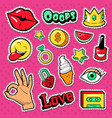 modern woman fashion doodle with lips vector image