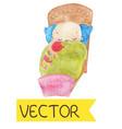 cartoon of cute sleeping child vector image