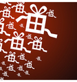 Present Gift Boxes on Red Background vector image vector image