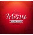 Red Menu Background vector image vector image