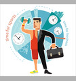 Young businessman dealing with sports vector image vector image