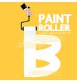 Paint Roller Alphabet B vector image