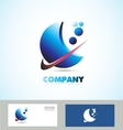 Corporate business abstract logo vector image