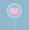 piggy bank in balloon vector image