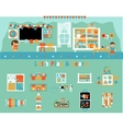 Elementary School Classroom and Objects Set vector image