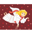 angel love cupid girl vector image