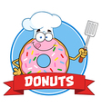 Donut Chef Cartoon vector image vector image