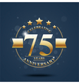 Happy anniversary celebration on Gold design vector image