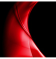 Bright red smooth waves design vector image