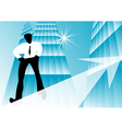 business growth vector image