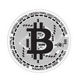 crypto currency bitcoin black and white symbol vector image
